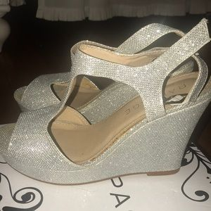 COPY - Silver Glitter Wedges